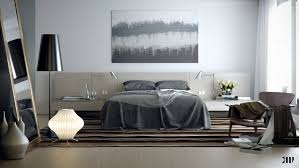 bedroom interactive white and grey bedroom design and decoration