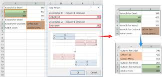 how to quickly swap contents of two cells in excel