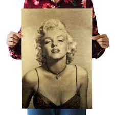 online get cheap marilyn monroe wall papers aliexpress com bearoom vintage poster wall sticker retro kraft paper poster marilyn monroe home decor for bar cafe