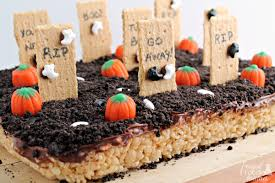 frugal foodie haunted graveyard rice krispies treats