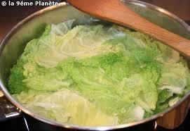 cuisiner du chou vert chou vert aux diots de savoie la neuvième planète