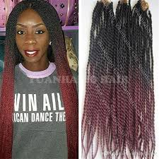 ombre senegalese twists braiding hair high quality 24inch fold black burgundy ombre braiding hair africa
