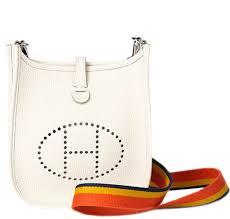 hermès evelyne tpm bag craie togo leather palladium hardware