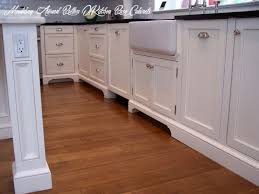 how to trim base cabinets moulding around bottom of kitchen base cabinets kitchen