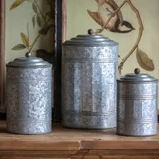 park hill tall galvanized canisters set ze5047