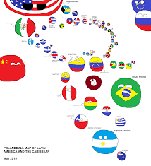 Latin America Map by Polandball Map Of Latin America And The Caribbean Borkball