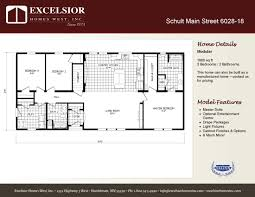 schult modular home floor plans schult independence 6028 18 excelsior homes west inc