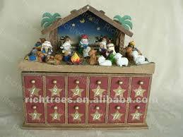 nativity advent calendar wooden christmas nativity advent calendar with 24 accessories wish