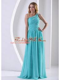 quince dama dresses one shoulder ruched bodice aqua blue dama dress for quinceanera
