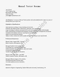 test engineer resume objective resume sample resume for manual testing template sample resume for manual testing templates large size