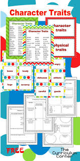Character Trait Worksheet 210 Best Character Study Activities Images On Pinterest Teaching