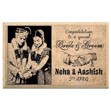 happy wedding day happy wedding day personalised plaque at best prices in india