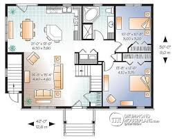 house plans with apartment multi family plan w3117 v2 detail from drummondhouseplans