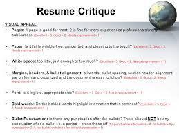 Resume Critique Sbes General U0026professional Ppt Download