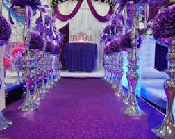 purple aisle runner yellow gold glitter leather fabric for wedding aisle
