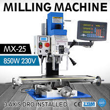 Bench Top Mill Weiss Vm 25l Bench Top Mill Milling Machine Brushless Belt Drive