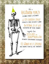 Dancing Halloween Skeleton by Free Printable Halloween Invitation Templates Free Printable