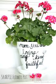 personalized flower pot make a sharpie flower pot for easy beautiful nest