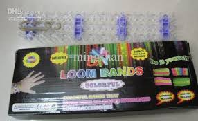 rainbow loom colorful rubber band bracelet handmade gift