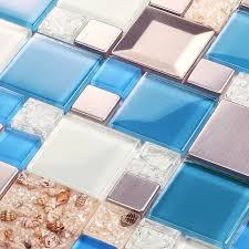 blue glass tile kitchen backsplash glass mosaic tiles crackle glass tile kitchen wall tv wall