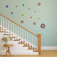 bright flower pattern wall stickers by mirrorin bright flower pattern wall stickers