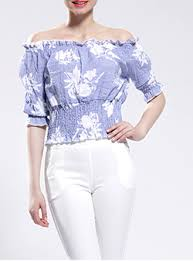 periwinkle blouse the shoulder tops for cheap price page 4 of 6