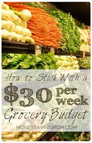 is it possible to survive on a 30 per week grocery budget you