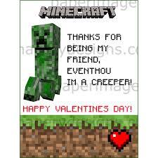 minecraft valentines cards minecraft valentines day cards 1 for 5 00 valentines day cards