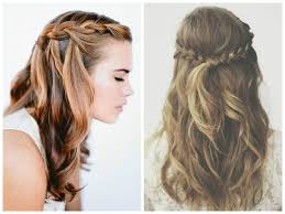 braided hairstyle with hair down half up half down braided