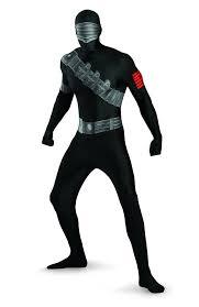 amazon com snake eyes deluxe bodysuit costume clothing