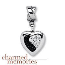 kay jewelers charmed memories kay charmed memories heart locket charm sterling silver
