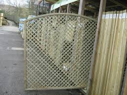 arched continental fence panels trellis arched european