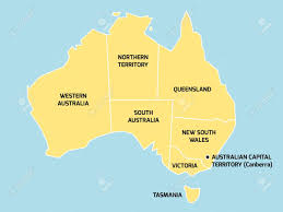 territories of australia map simplified map of australia divided into states and territories