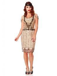 gatsbylady eva vintage inspired flapper dress in blush scandi
