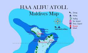 maldives map maldives map haa alifu atoll with island name resorts and hotel