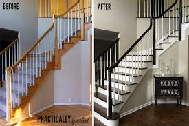 Pictures Of Banisters How To Gel Stain Ugly Oak Banisters