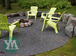 fire pit house pinterest crushed stone yards and backyard