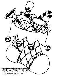 christmas coloring pages printable santa with big presents and