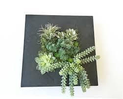 succulent wall planter hanging succulent arrangement faux