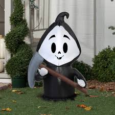 gemmy airblown inflatable 3 5 u0027 x 2 u0027 happy reaper halloween