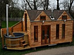 tiny cabin on wheels relaxation to go tiny house on wheels has a built in hot tub