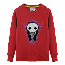 new autumn mens sweatshirt boy fashion nightmare before