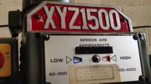 xyz 1500 turret milling machine 9 x 42