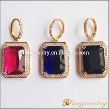 stone pendant necklace wholesale images 18k gold jewelry hip hop big stone pendant design jewelry ruby jpg