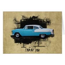 classic car thank you cards invitations greeting photo cards