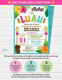 25 unique hawaiian party invitation ideas on pinterest