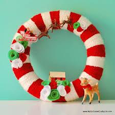 diy wreaths diy retro christmas yarn wreath my so called crafty