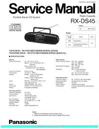 panasonic rxds45 sm service manual download schematics eeprom