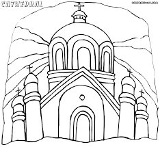 cathedral coloring pages coloring pages to download and print
