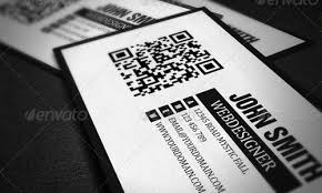 Business Card With Qr Code Free Business Card Templates For Photoshop Designmodo